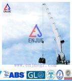 ABS CCS BV ISO에 의해 증명서를 주는 끌어 넣어진 붐을%s 가진 유압 배 기중기