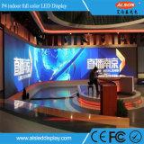 Farbenreiche örtlich festgelegte Installation P4 Innen-LED-Schaukasten