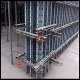 구체적인 강철 벽 Formwork 시스템은 Adjusyable 수직 버팀대를 포함한다