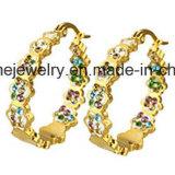 Pendiente del chapado en oro de las mujeres de la manera de la joyería de Shineme (ERS7011)