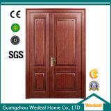 Porta de madeira interior contínua do MDF HDF com vidros