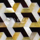Shell amarillo de la fregona del labio y azulejo de mosaico de agua dulce del trapezoide del shell y del shell de la pluma