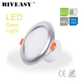 5W 2.5 iluminación de la pulgada 3CCT LED Downlight con el programa piloto integrado LED
