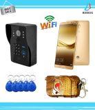 Sistema de intercomunicación visual inteligente sin hilos colorido de Doorphone del timbre de WiFi