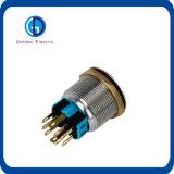 interruptor de pulsador momentáneo del metal del acero inoxidable IP65 de 19m m