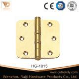 Оборудования двери плоской головки Bb 2 шарнир твердого латунный (HG-1015)