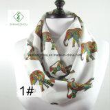 Fabbrica della sciarpa di modo degli scaldini del collo stampata Digitahi dell'elefante della fibra dell'Europa