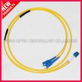 3,0Mm SC LC duplex de cabo de fibra óptica monomodo
