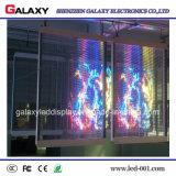Pantalla/ventana LED de visualización video/pared/cartelera/muestra/el panel transparentes/del vidrio a todo color P3.75/P5/P7.5/P10 para hacer publicidad