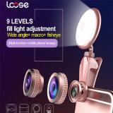 De Ring van Selfie met het Licht van de Lens Fisheye (RK19)