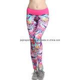 Polainas de las mujeres de deporte, ropa deportiva de moda compresión de las chicas leggings