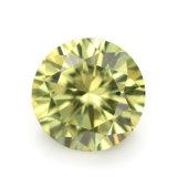 착색한 돌 가벼운 올리브 느슨한 CZ 지르코니아 돌을 푸십시오