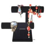 Ensemble de bijoux en 2 niveaux T-Bar Bracelet en velours noir Montre Porte-pendentif Affichage
