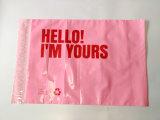 Мешок почты столба изготовленный на заказ розового цвета пластичный с напечатанным логосом