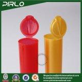 플라스틱 환약 작은 유리병을 포장하는 환약 약을%s 손가락으로 튀김 상단 모자를 가진 120mm 다채로운 PP 플라스틱 합동 관 약제 빈 관