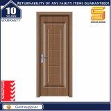 Design simple MDF en bois massif Intérieur Porte plat en bois