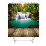 Tenda di acquazzone impermeabile stampata Digitahi della stanza da bagno del poliestere di paesaggio 3D (11S0028)