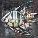 arte della parete del metallo 3D per i pesci