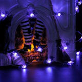 Bat Evil Halloween Bateria operada em 7.87 FT Long Silver Color Ultra Thin Copper Wire String Lights