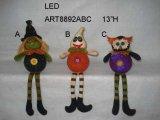"""7 """" Hx12 """" l украшение Figurine Halloween с Sign-4asst."""