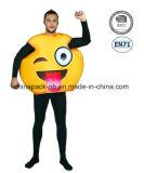 Emoji 남자 (CPGC70015X)를 위한 재미있은 마스크 사육제 만화 당 복장