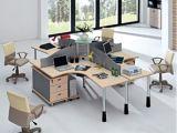 Estação de trabalho de madeira da equipe de funcionários do caixeiro do conjunto da divisória do escritório do MDF (HX-NCD052)
