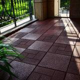 Commerce de gros Outdoor étanche verrouillage recyclé marron carré en caoutchouc Tapis de sol