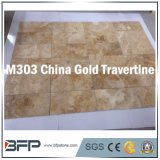 Ванная комната золота кроет мраморный каменные плитки травертина справляясь & интерьер черепицей стены