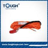 Da corda sintética do guincho 4X4 da laranja 12mmx30m fibra 100% resistente de Uhwmpe da corda