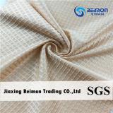 Het Nylon & 25% Spandex, de Vierkante Stof van de Rek van het Patroon, de Stof van 75% van het Netwerk voor Sportkleding, Zachte Handfeel, de Decoratieve Stof van de Jacquard