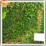 Innendekoration-immergrüne künstliche Gras-Wand