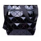 Zwarte Ruitvormige Geometrische Dame Handbag van Pu (m005-4)