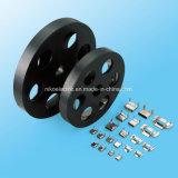 Largeur enduite 10mm/12mm/15mm de serre-câble de PVC du blocage solides solubles d'aile