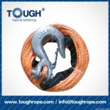 Fibra 100% resistente de Uhwmpe da corda da corda sintética do guincho Orange8.5mmx28m4X4