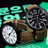 326 grosser Vorwahlknopf-leuchtende Frauen-Uhr-beiläufige Art-Form-Unisexdame Uhr für Verkauf