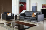 Moderno Estilo Nórdico Classical Simples Escritório e Living Room Leather Sofa