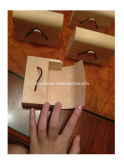 Logotipo personalizado pequeño Jabón Box Caja de la corteza de madera