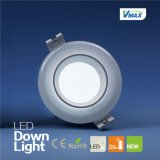 De alta potencia 15W Houseing Lámpara LED de tres colores (Downlight regulable DLQ0815V-RY)