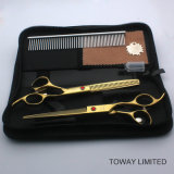 Professionnel Pet Grooming Hair Clipper Golden Dog Scissors