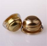 化粧品の包装のための新しい金の塔のアクリルのクリーム色の瓶(PPC-ACJ-098)