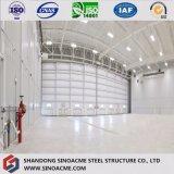 Hangar estructural de acero modular del helicóptero del palmo grande con la certificación del Ce