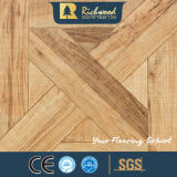 Textura Woodgrain 8.3mm comercial de dois gumes Parafinado Teca pisos laminados
