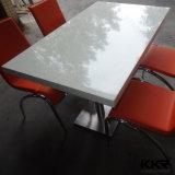 Mobiliário de restaurante Mesa de jantar de pedra branca para cafeteria
