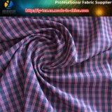 Tela de Shirting de la verificación del poliester Y/D, tela de Polyester+Spandex (YD1200)