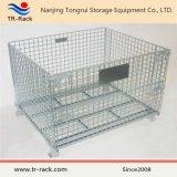 Gaiola Foldable de aço do engranzamento para o armazenamento