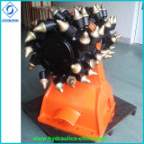 Coupe-tambour rotatif hydraulique pour pièces d'excavateur