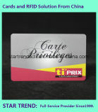 Cartão de plástico de revestimento UV Cartão de PVC com faixa magnética para membro VIP