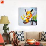 Huile sur toile Clolourful Handmade Rhino