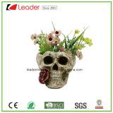 홈과 정원 장신구를 위한 장식적인 손으로 그리는 두개골 재배자