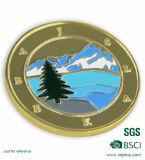 Монетки изготовленный на заказ промотирования золота коммеморативные